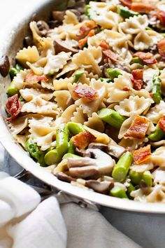 Mushroom and  Asparagus One-Pot Pasta