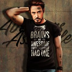 """The Avengers and Their Favorite T-Shirts Series: Tony Stark - Deviant Artist """"Petite-Madame"""""""
