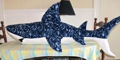 Shark Quilt Pattern | You have to see Great White Shark by NiceThreads!