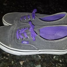 check out cd70e ca63b Vans Shoes   Vans Tennis Shoes   Color  Gray Purple   Size  7.5