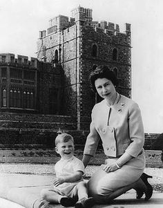 The Queen with Prince Andrew 1962