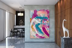 Items similar to Large Modern Wall Art Painting,Large Abstract Painting,acrylics paintings,bedroom wall art,large horizontal art on Etsy Large Artwork, Extra Large Wall Art, Large Painting, Oversized Wall Decor, Abstract Wall Art, Modern Wall Art, Custom Art, Acrylics, Bedroom Wall