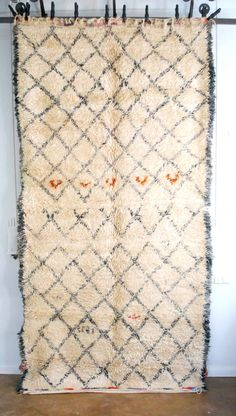 Gorgeous super cozy & shaggy tribal Moroccan carpet from M.Montague.
