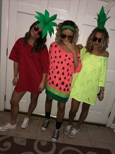 Halloween fruit costume ! Watermelon, pineapple, strawberry