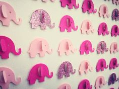 3D Pink Elephant Picture by Polkadotcorner22 on Etsy
