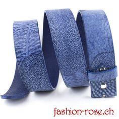 Damenledergürtel Wechselgürtel in sehr schönen blau tönen Malu, Rind, Accessories, Fashion, Skate, Cobalt Blue, Silver Decorations, Colors, Moda