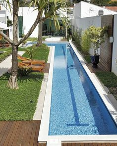 incredible small indoor pool design ideas in your home 13 > Fieltro. Backyard Pool Designs, Small Backyard Pools, Backyard Patio, Outdoor Pool, Backyard Landscaping, Landscaping Ideas, Patio Ideas, Small Patio, Indoor Pools