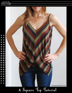 #FreeSewingPattern - 4 Square Top Tutorial by Indie Designer Jamie Christina Designs - click the image to learn more and get the free instant download of the pattern