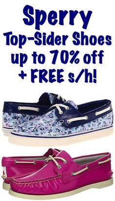 Sperry Top-Sider Shoes: up to 70% off + FREE Shipping! #sperry #shoes