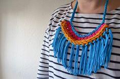 Finished fringed necklace