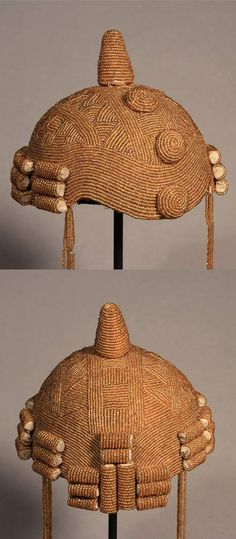 Africa Judicators Cap Yoruba people of Nigeria Early C. African Crown, African Hats, African Life, African Culture, Africa Art, West Africa, African Jewelry, Tribal Jewelry, Ghana