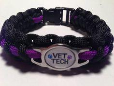 Veterinary Technician Bracelet by KnotRightParacord on Etsy, $14.50