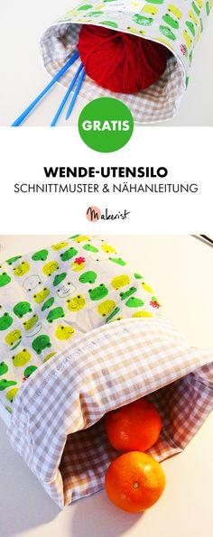 Gratis Anleitung: Utensilo zum Wenden nähen - Schnittmuster und Nähanleitung via Makerist.de