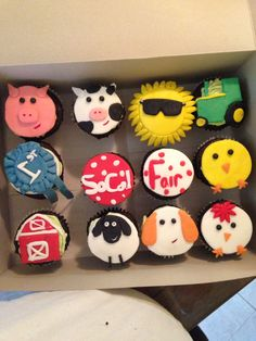 My SoCal Fair cupcakes created by 2014 Farmers Daughter Emily Hamblin