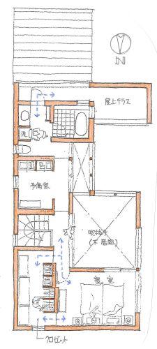 寝室の衣類の収納について、それぞれの建て主さんによって、寝室と別室にするウォークインクロゼット派と、寝室の壁の一面を収納とする壁面収納派に分かれます。と言... Craftsman Floor Plans, House Floor Plans, One Bed, 2way, Arch, Study, Flooring, Note, How To Plan