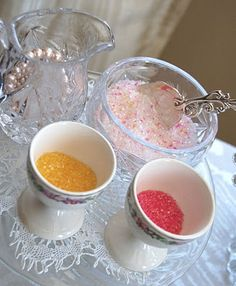 love this idea - just add some of your sugar sprinkles to regular sugar to get a lovely colorful blend
