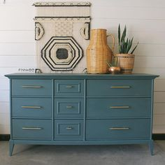 Finn and Bo refinished Mid century dresser country chic paint Jitterbug decor Modern Staging Furniture, Refurbished Furniture, Shabby Chic Furniture, Furniture Makeover, Home Furniture, Bedroom Furniture, Furniture Design, Hutch Makeover, Gray Furniture