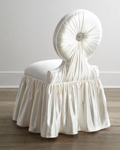 Shop Sandie Vanity Chair from Haute House at Horchow, where you'll find new lower shipping on hundreds of home furnishings and gifts. Furniture Styles, Furniture Decor, Furniture Design, Scandinavian Dining Chairs, Chair Fabric, Interior Exterior, Upholstered Furniture, Shabby Chic Decor, Living Room Chairs