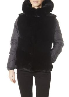 Black Short Puffer With Rabbit Front Winter Coats Women, Coats For Women, Winter Jackets, Plus Size Winter, Black Shorts, Shop Now, Hoodies, Sweaters, Rabbit