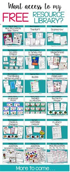 This library is packed with engaging resources for you! More added all the time! 5th Grade Classroom, Classroom Freebies, 2nd Grade Math, Third Grade, Classroom Ideas, Grade 1, Teaching Grammar, Teaching Writing, Teaching Ideas