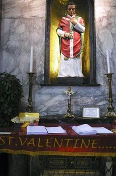 The Shrine of St Valentine at Whitefriar Street Church, Dublin