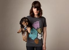 """Animals with Eyepatches! Yes!"" - Threadless.com - Best t-shirts in the world"