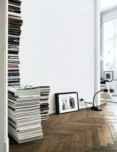 Lets have stacked books in the living room! :) I think it would look awesome! I will bring the rest of my book collection up and you should bring some too.