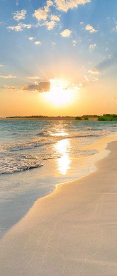 Daybreak in the Caribbean.