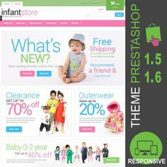 Thème PrestaShop 1.5 et 1.6 pour boutique ecommerce destiné à la vente d'habits pour enfants, mode, filles, garçons, pantalons, jupes, gilets, chemises…