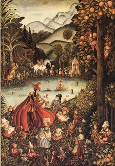 Есть у меня - сказал, так в ладони! - Для девочек лани, для мальчиков кони, Плоды Соломона и розы Саади, Для мальчиков - войны, для девочек - свадьбы,  Весь мир - нараспев И ласка для всех.