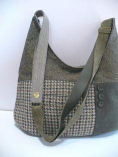 Wool tweed handbag in olive green | Flickr - Photo Sharing!