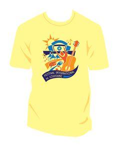 Festival International de Louisiane T-Shirt Design 2012 Created by Right Angle rightangleadv.com