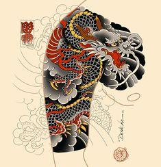 Japanese Tattoo Symbols, Japanese Dragon Tattoos, Traditional Japanese Tattoos, Japanese Tattoo Art, Japanese Tattoo Designs, Japanese Sleeve Tattoos, Dragon Tattoo Designs, Tattoo Sleeve Designs, Japan Tattoo Design