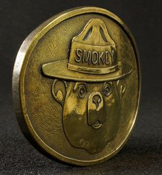 Vintage Smokey The Bear Brass Belt Buckle Park Ranger Fire Safety To see the Price and Detailed Description you can find this item in our Category Vintage Fire Fighting, Police on eBay: http://stores.ebay.com/tincanalley1/Vintage-Fire-Fighting-Police-/_i.html?_fsub=26200672018  RD15103