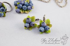 Jewelry set with blueberries by polyflowers.deviantart.com on @DeviantArt