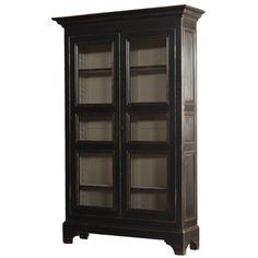 Ebonized Two Door Armoire
