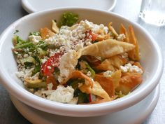 Uncle Moustache, Montclair, NJ: Fatouch salad with crispy pita chips.  http://njmonthly.com/blogs/tablehopwithRosie/2012/9/12/restaurant-news.html#read_more