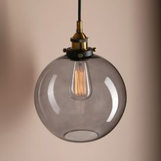 Attention:Color of shade have be updated to be smokey color recently. except for Pendant K(black grey). Shade. . Hand blown,shows black grey color when turn off light. shade may have a slightly uneven bell shape and glass may contain small bubbles.   eBay!