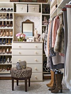 Tailor Closet Shelving and storage