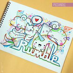 Doodle - Rumble :) | www.youtube.com/piccandle | #doodle