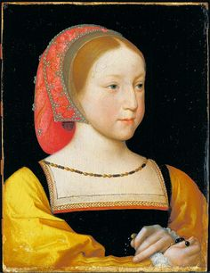Jean Clouet, Portrait of Charlotte of France, c.1522 (via). This portrait of Princess Charlotte, daughter of King Francis I, was painted about a year before she died at age 8.