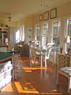 Art and craft studio...just look at the light in there!