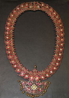 Jewelry | Mango Mala Studded with Rubies & Emeralds - The Curator's Eye