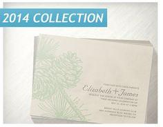 Elegant Pine Cones Wedding Invitations