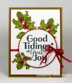 Stampin Up Glad Tidings card by Kristi @ www.stampingwithkristi.com