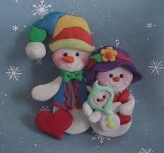 Resultado de imagen de christmas polymer clay ornaments