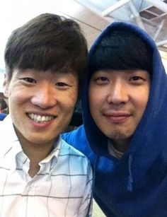 Haha and Park Ji Sung