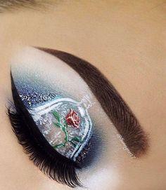 Beauty and the Beast Makeup mit Mehron … - Makeup Products Fenty Makeup Eye Looks, Eye Makeup Art, Beautiful Eye Makeup, Crazy Makeup, Cute Makeup, Pretty Makeup, Hair Makeup, Disney Eye Makeup, Disney Inspired Makeup