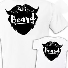Beard shirts Daddy and Me matching set boys new baby by StoykoTs