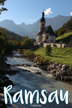 The iconic Parish Church of St. Sebastian in Ramsau, Bavaria near Berchtesgaden